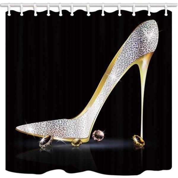 Shop Fashion Lady High Heel Shoe Shower Curtain
