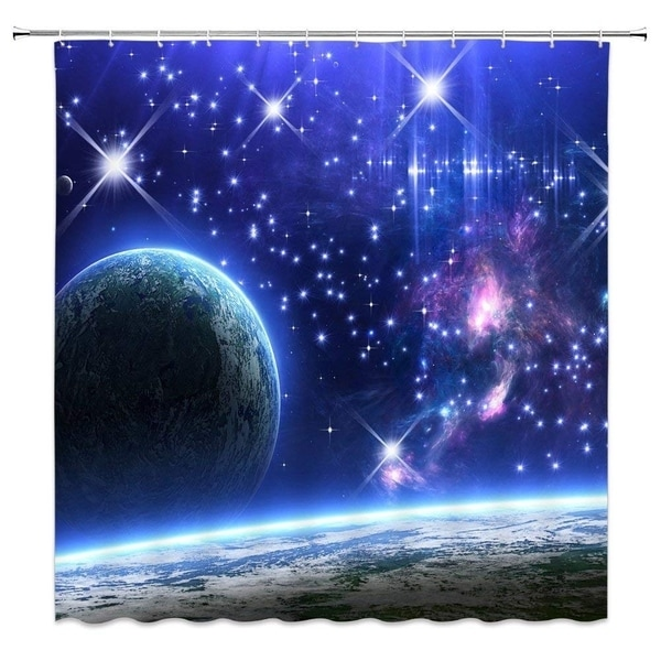 Shop Blue Galaxy Shower Curtain 70x70Inches