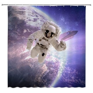 Space Astronaut Shower Curtain Star War Décor