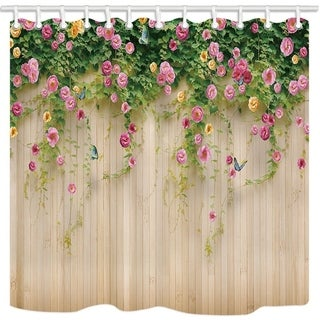 Wall Wallpaper Photography Background Bath Curtains