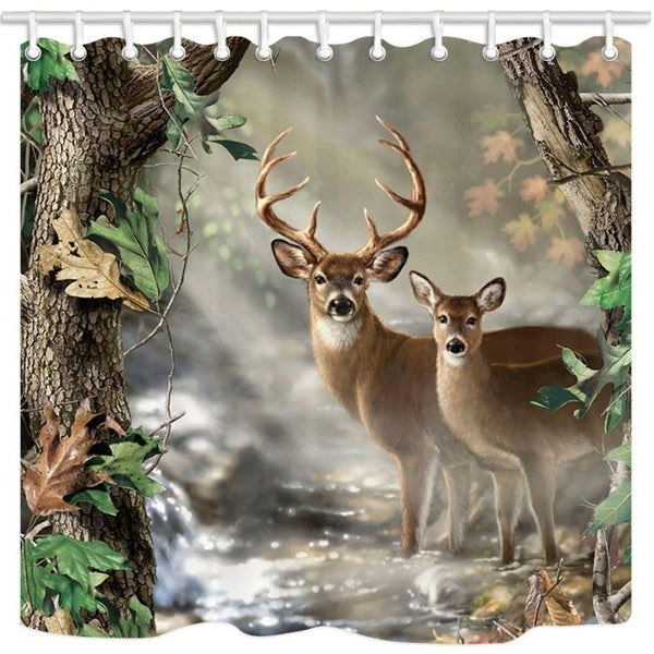 Shop Forest Shower Curtain Hooks Included