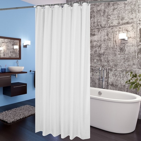 Shop Mildew Resistant Fabric Shower Curtain With Hooks
