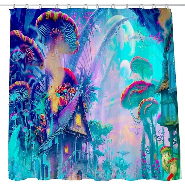 Shop Trippy Surreal Abstract Art Shower Curtain