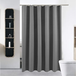 Shower Curtain or Liner Waterproof Fabric White Arrow