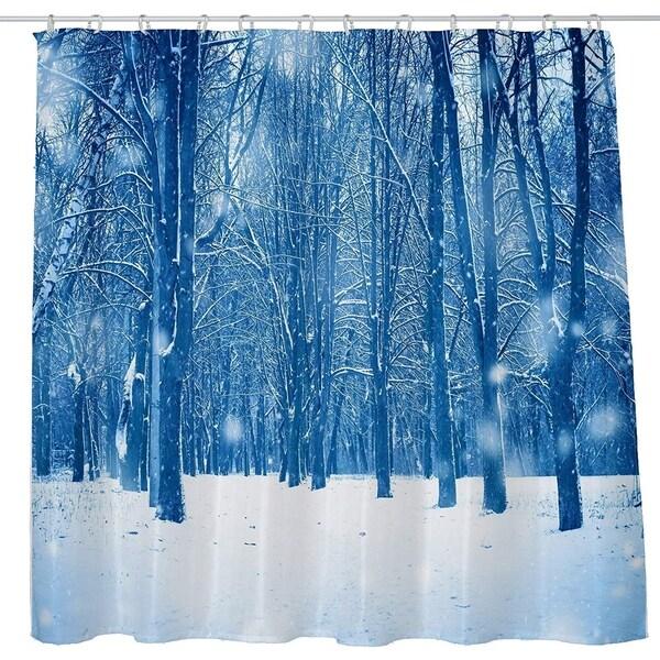 Landscape Snow Forest Shower Curtain