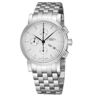 Mühle Glashutte Men's M1-30-95-MB 'Teutonia II Chronograph Silver Dial Stainless Steel Day Date Automatic Watch