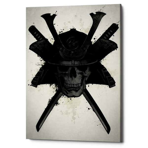 "Cortesi Home ""Samurai Skull"" by Nicklas Gustafsson, Giclee Canvas Wall Art, 18"" x 26"""