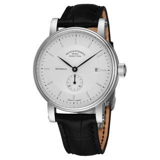 Mühle Glashutte Men's M1-33-45-LB Silver Dial Black Leather Strap Small Seconds Date Automatic Watch
