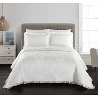 Chic Home Lesley 1 Piece Quilt Coverlet Cotton Fish Scale Pattern
