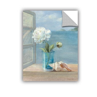 ArtAppealz Danhui Nai's 'Coastal Floral 1' Removable Wall Art Mural - 18 x 24 (As Is Item)