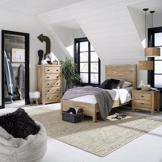 Grain Wood Furniture Montauk Twin Solid Wood Panel Platform Bed