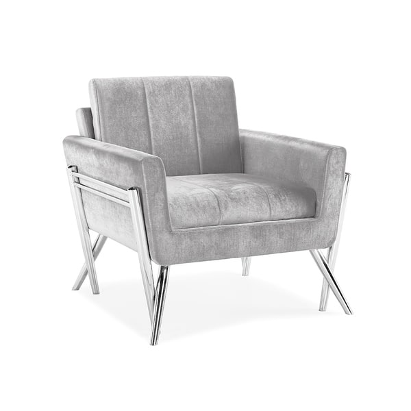 Cool Shop Calen Armless Upholstered Metal Accent Chair On Sale Andrewgaddart Wooden Chair Designs For Living Room Andrewgaddartcom