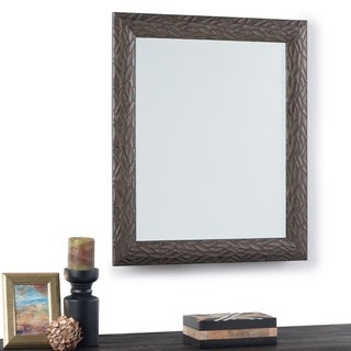 Copper Grove Torcy Rectangular Decor Mirror with Antique Brown Frame - 25 W x 1 D x 29 H