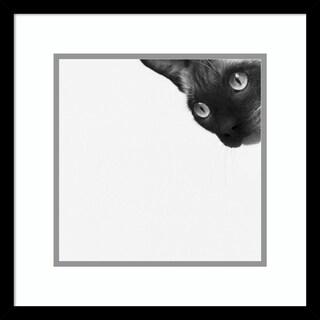 Framed Art Print 'Be Brave' by Jon Bertelli