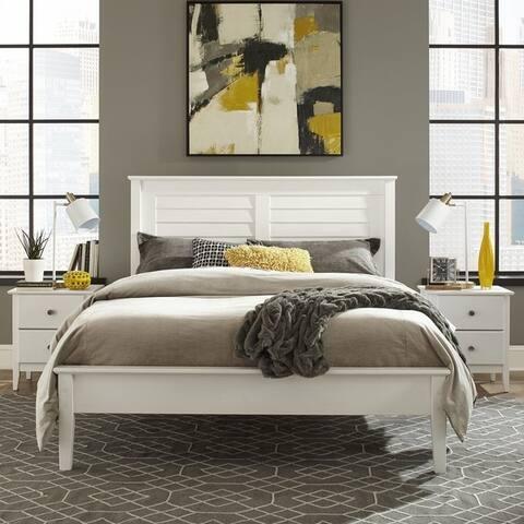Grain Wood Furniture Greenport Louvered Platform Bed