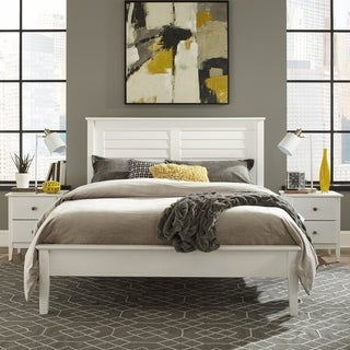 Grain Wood Furniture Greenport Queen Louvered Platform Bed