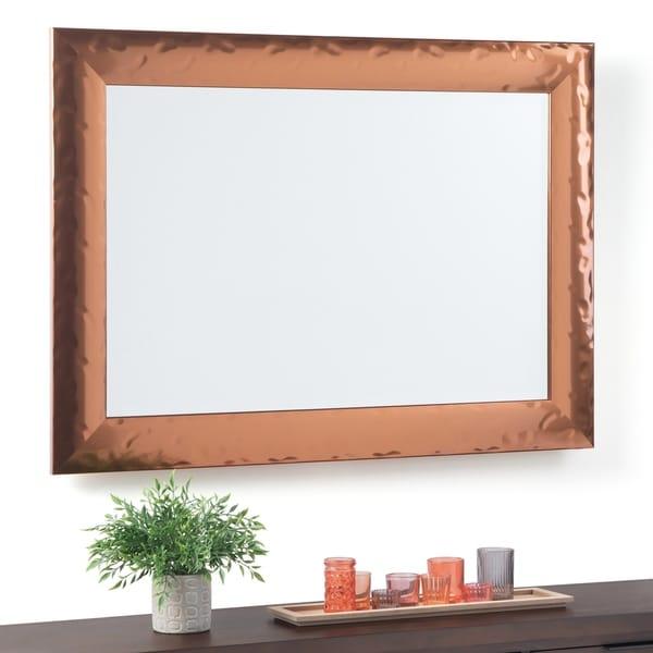 Copper Grove Aumone Rectangular Decor Mirror with Copper Frame - 31 W x 1 D x 38 H