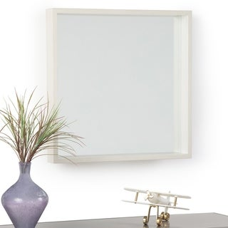 "Carson Carrington Kanstjo White Wash Stain Square Decor Mirror - 25.3""w x 3.1""d x 25.3""h"