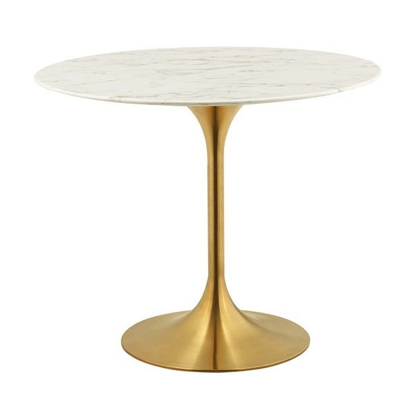 Shop Lippa 36 Quot Round Dining Table Gold White On Sale