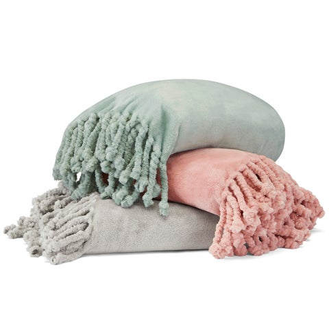 Stone Cottage Hazel Ultra Soft Plush Fringe Throw