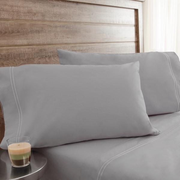 200 Thread Count Soft Washed Percale Lt Grey Sheet Sets On Free Shipping Orders Over 45 24331187