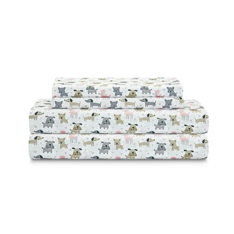 Microfiber Puppy Love Print Sheet Set