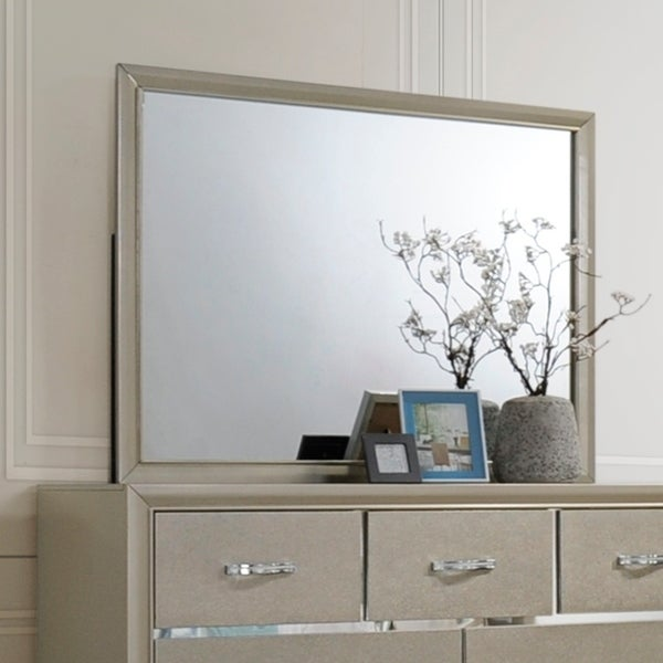 Contemporary Bedroom Mirror Champagne Color Tan Free Shipping Today 24331308
