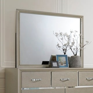 Contemporary bedroom Mirror-Champagne Color - Tan