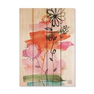 Flower Family - 14x20 - Inside/Outside WoodWall Art - Multi-color