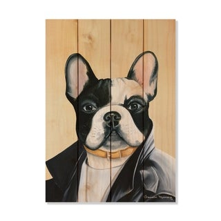 French Bulldog - 14x20 - Inside/Outside WoodWall Art - Multi-color