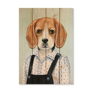 Beagle - 14x20 - Inside/Outside WoodWall Art - Multi-color