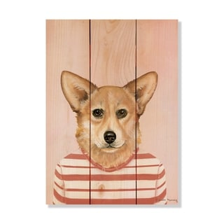 Corgi - 11x15 - Inside/Outside WoodWall Art - Multi-color