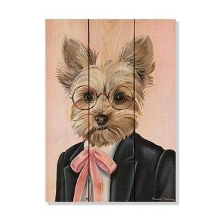 Yorkie - 11x15 - Inside/Outside WoodWall Art - Multi-color