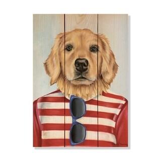 Golden Retriever - 11x15 - Inside/Outside WoodWall Art - Multi-color