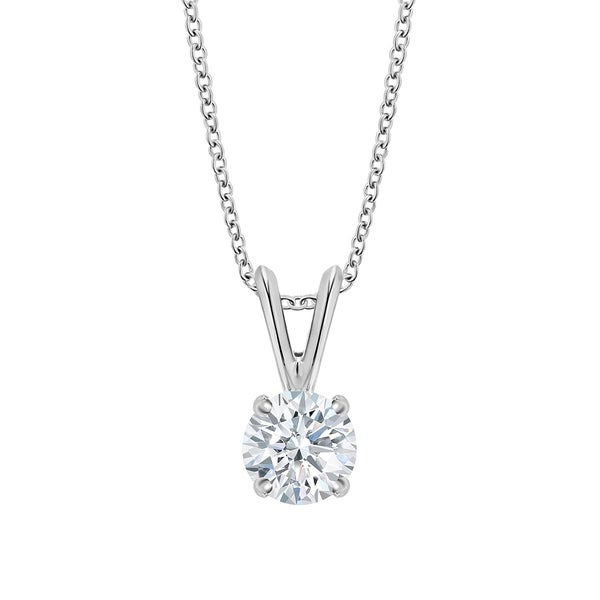 5fcf0d0f9a6f8 14K Gold Diamond Pendant Necklace - Round 1 4 CTTW - IGI Certified - White