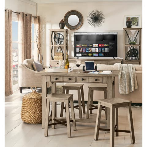 Hideaway Orchard Grey Counter Height Table - orchard grey