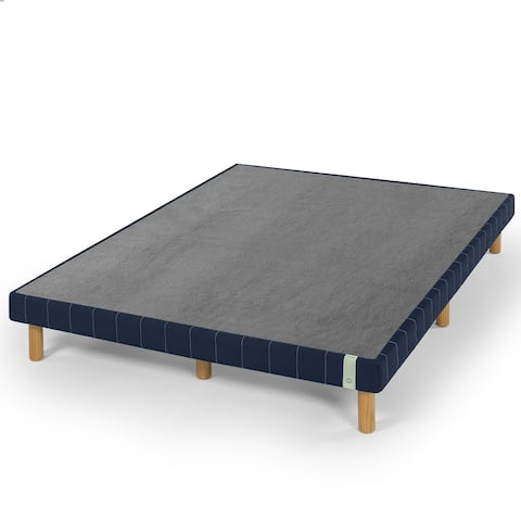 Priage by Zinus 11 Inch Quick Snap Standing Mattress Foundation, Navy