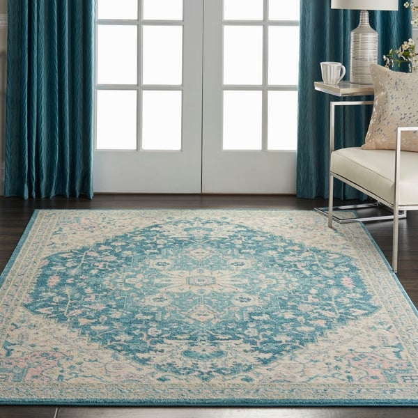 Nourison Tranquil Abstract Traditional Area Rug