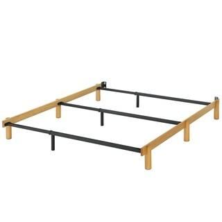 Priage Austin Adjustable Wood and Metal Compack Bed Frame