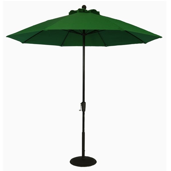 MyUmbrellaShop 9 ft. Market Umbrella with Forest Green cover.