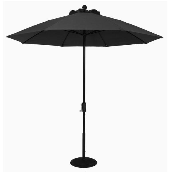 MyUmbrellaShop 9 ft. Market Umbrella with Black cover.