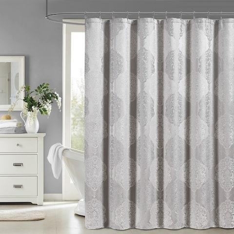 Five Queens Court Courtney Woven Jacquard Shower Curtain