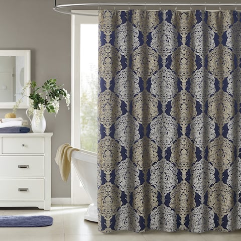 Five Queens Court Courtney Woven Jacquard Shower Curtain