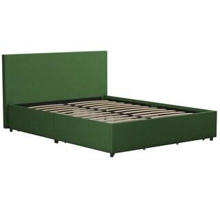 Novogratz Kelly Linen Upholstered Bed with Storage