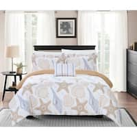 Chic Home Catriona 4 Piece Reversible Duvet Cover Set Graphic Printed