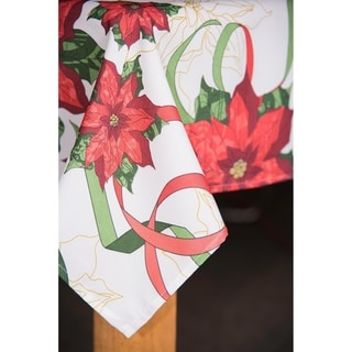 Link to Christmas Ribbon Tablecloth Similar Items in Table Linens & Decor
