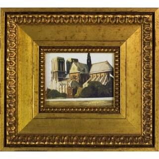 "Notre Dame de Paris, 1907 by Edward Hopper with Versailles King Frame Miniature Wall Art, 10""x11"""