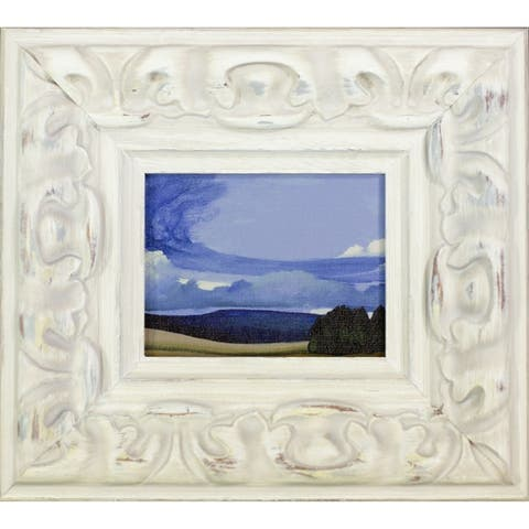 """ArtistBe Advancing Front by Patricia Howitt with Brimfield Cottage Antiqued Frame Miniature Wall Art, 9""""x10"""""""