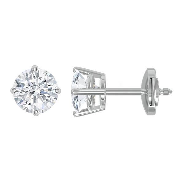 de3e0ba98d33d Shop 14K Gold Diamond Stud Earrings - Round 2 CTTW - IGI Certified ...