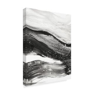 Ethan Harper 'Black Waves I' Canvas Art
